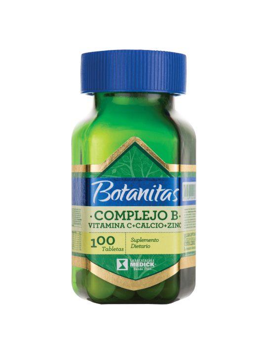 Recipiente complejo B, Vitamina C, Calcio y Zinc
