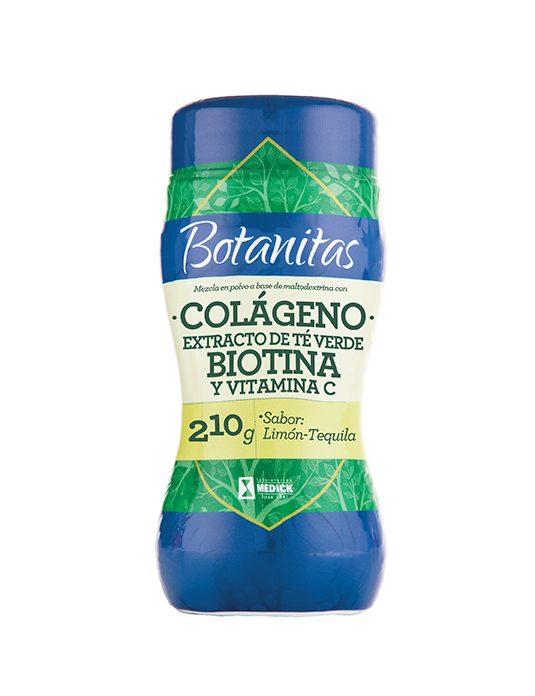 Recipiente de colágeno extracto de té verde, Biotina y Vitaina C