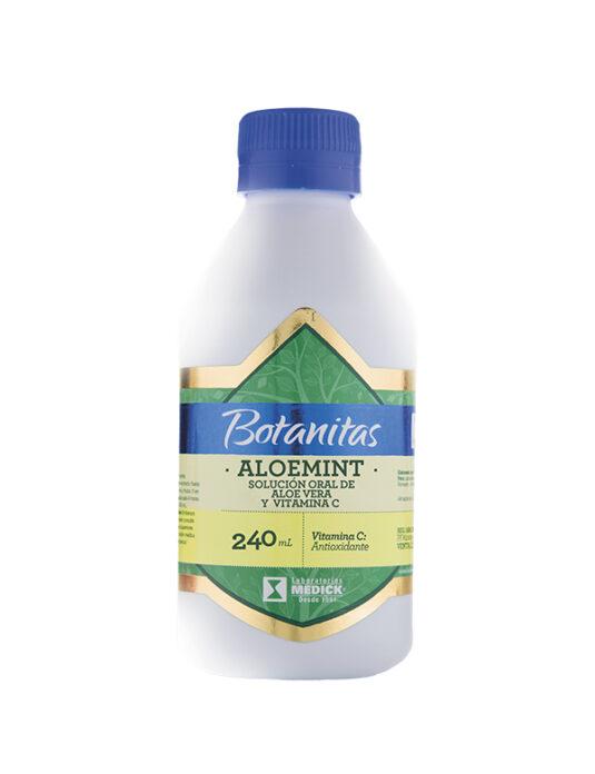 Recipiente de Aloemint Solución oral de aloe Vera y vitamina C